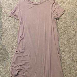 Beige T-shirt Dress